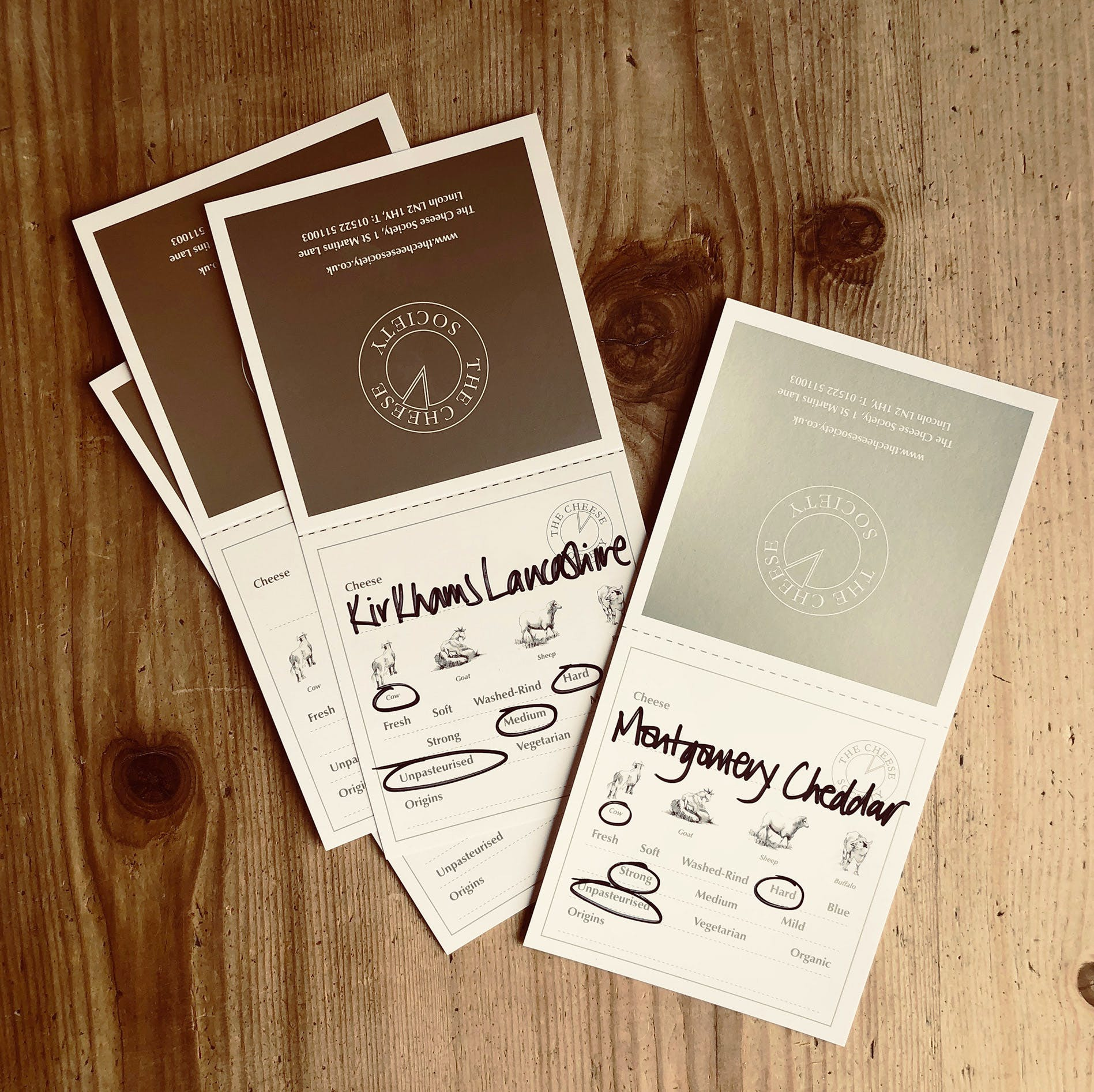 Cheese Society Tent Cards