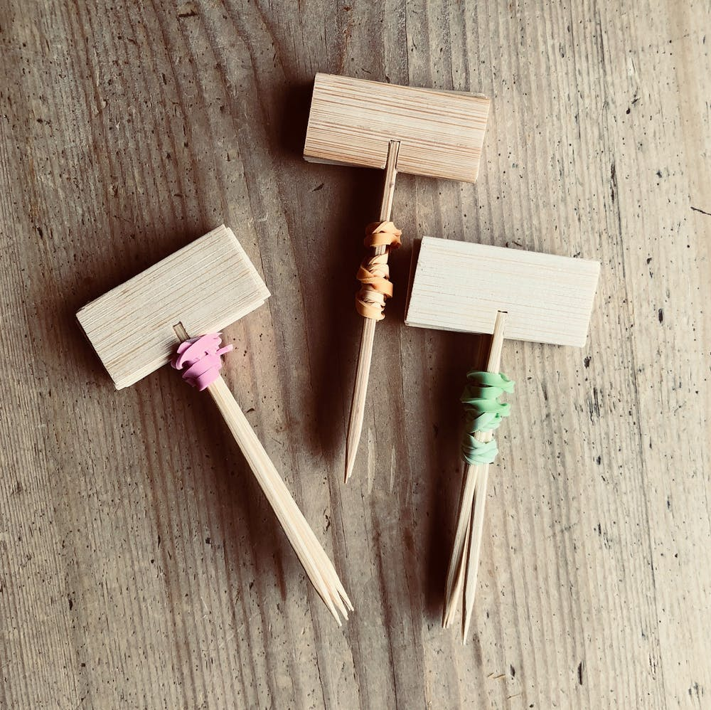 Wooden Cheese Marker Bundles