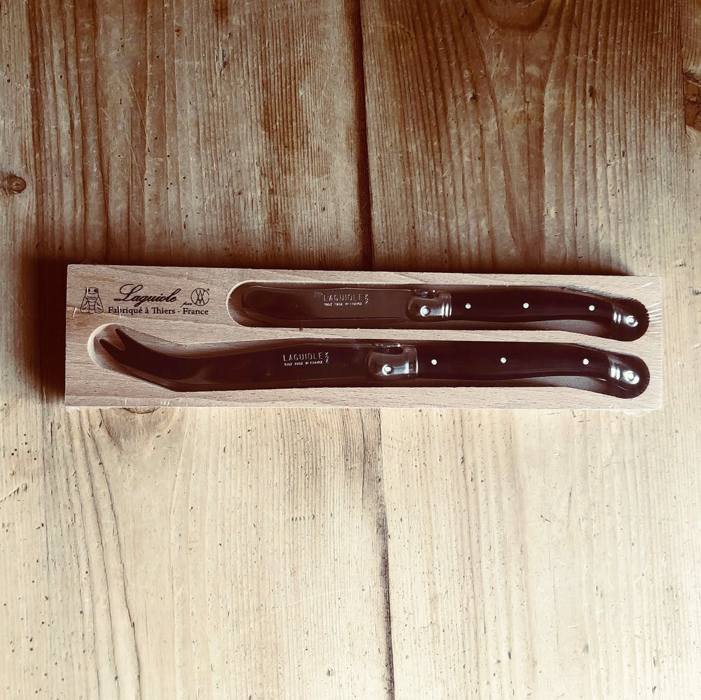 Laguiole Black Cheese Knife
