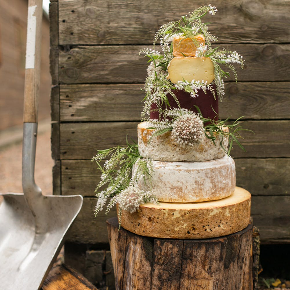 Cheese Wedding Cake Top Table Collection