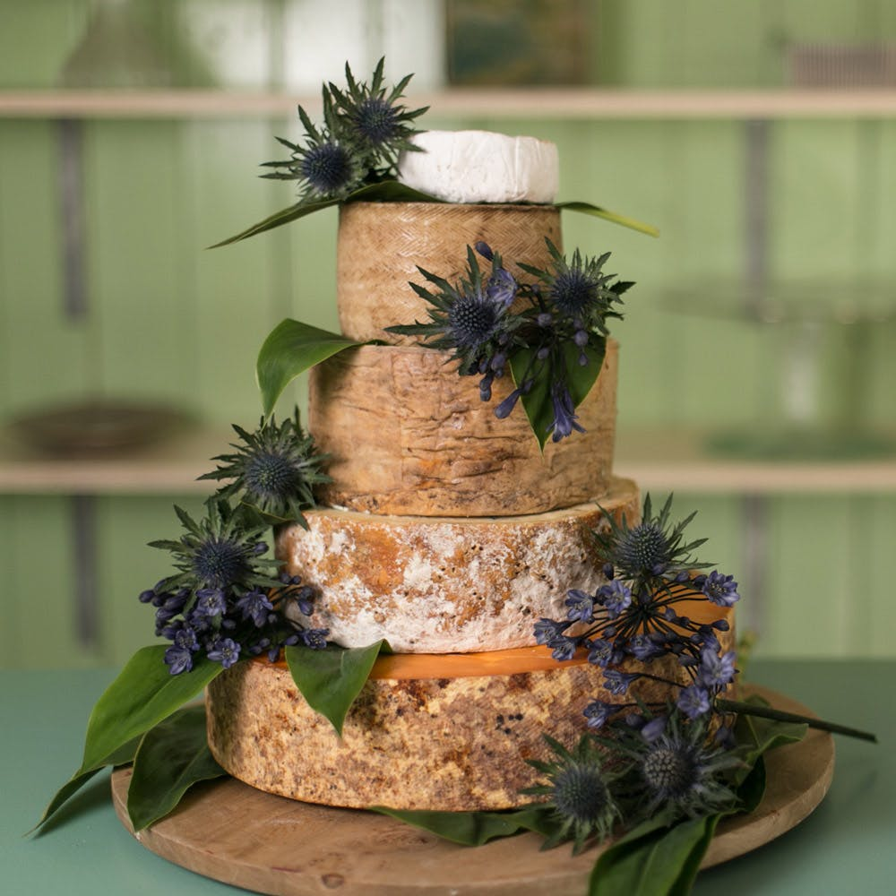 Cheese Wedding Cake Table Five