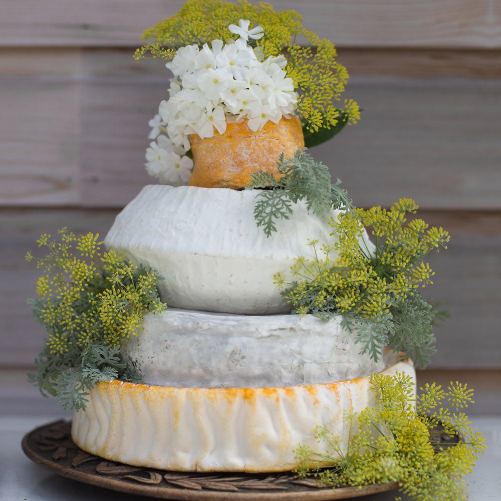 Cheese wedding cake-4 tier