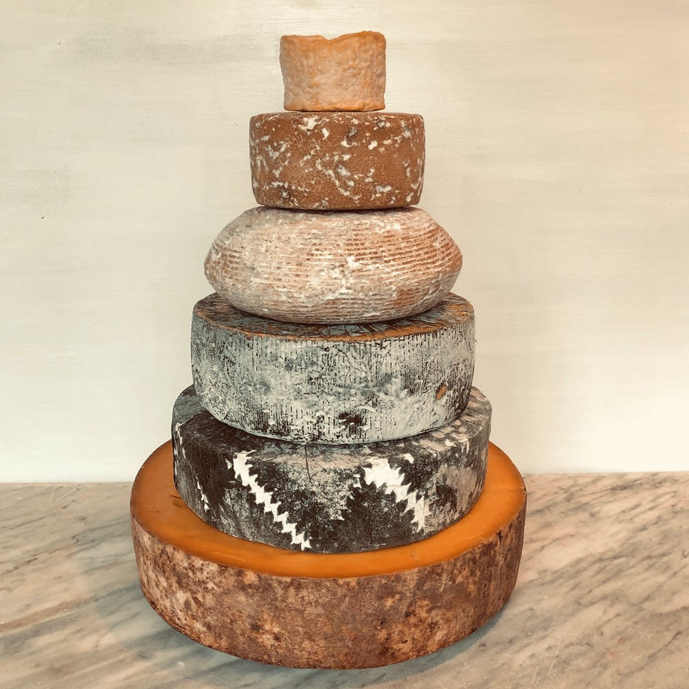 Cheese Wedding Cake 100-125 guests